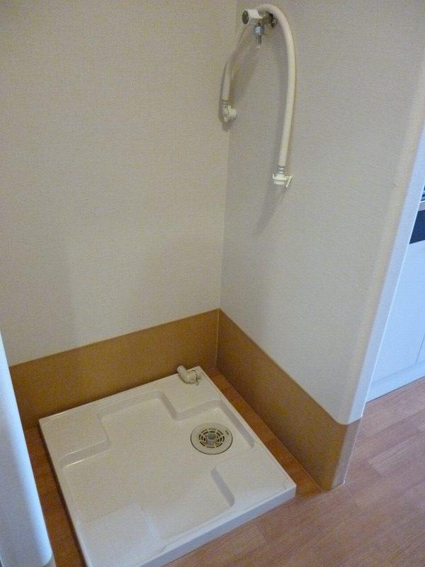 老人ホーム部屋洗濯機置き場