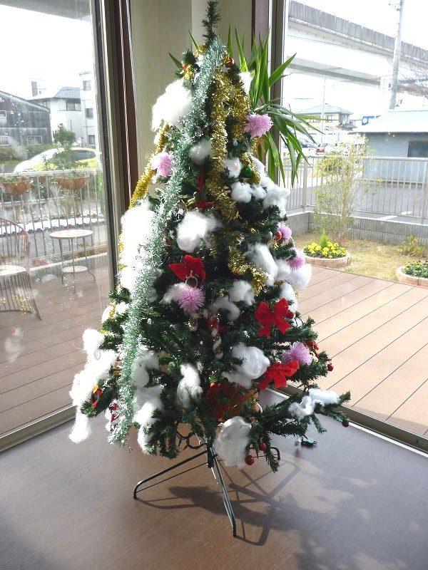 老人ホームクリスマスツリー